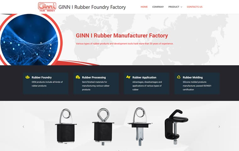 GINN I Rubber Foundry Factory Various types of rubber